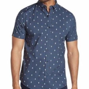 Ben Sherman Short Sleeve Ice Lolly Geo Shirt Navy
